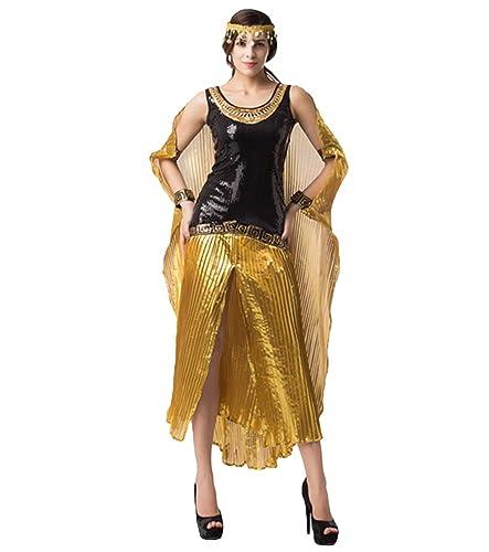 Anguang Donna Costume di Halloween da Regina Egiziana Vestito