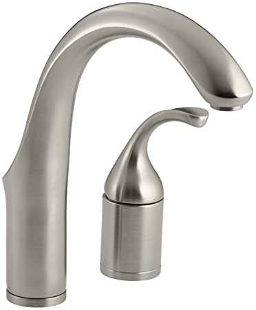 KOHLER K 10443 BN Forte Entertainment Kitchen Sink Faucet Without  Sidespray, Vibrant Brushed