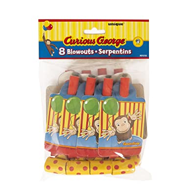 Curious George Party Blowers, 8ct: Toys & Games [5Bkhe0502097]