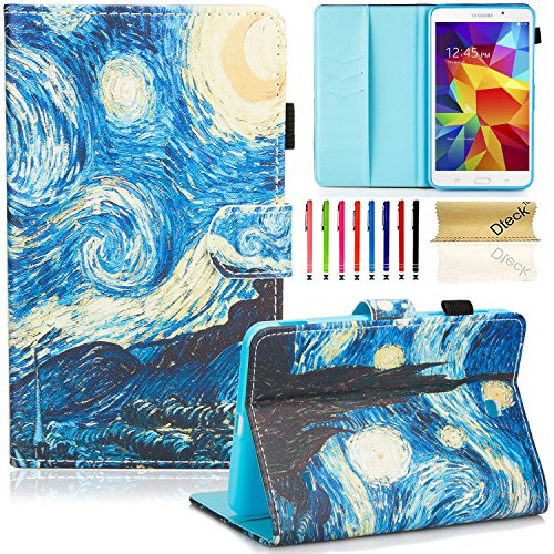 T230nu Case, Tab 4 7.0 Case, Dteck(TM) Fashion Art Print Slim PU Leather Stand Case with Card Slots Magnetic Closure Protective Cover for Samsung Galaxy Tab 4 7.0
