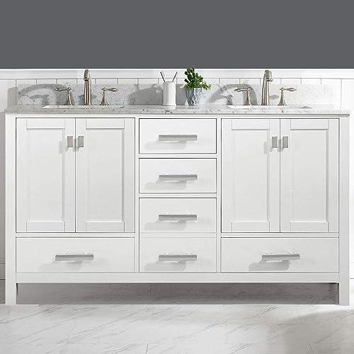 LUCA Kitchen Bath LC61CWW Geneva 60″ Double Vanity Set