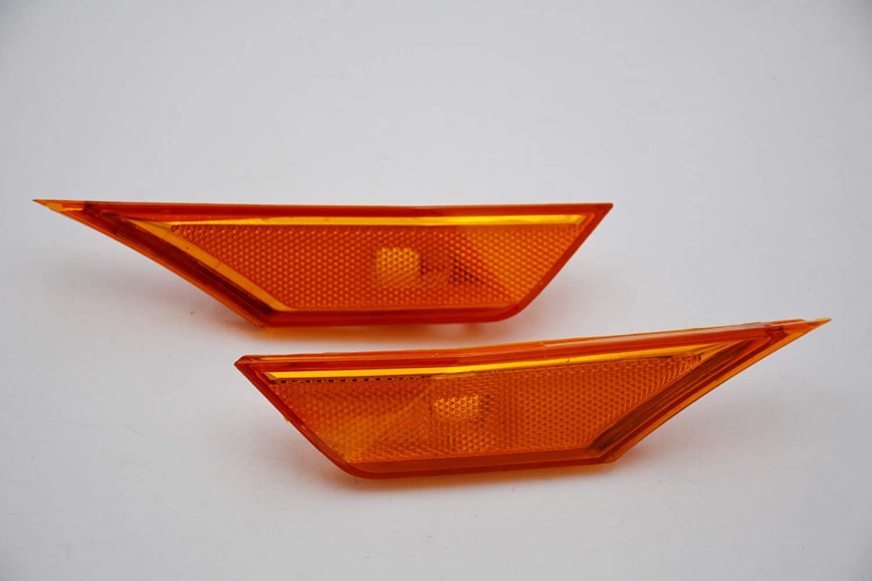 Pair Smoked Amber Side Marker Turn Signal Fender Lights Sealed For Honda Civic