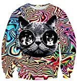 KDHJJOLY New Men's 3D Print Longsleeve Hip Hop Pullover Sweater US S Aspic