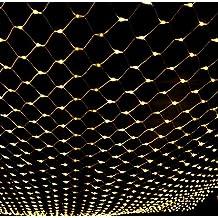 NETLT net light,christmas series lights,led fairy nets light,[outdoor waterproof],include tail-Warm 1.5m*1.5m(59x59inch)