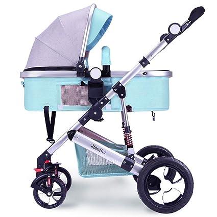 XYQ Cochecito de bebé-Carro de bebé Marco de aleación de Aluminio Puede Sentarse/