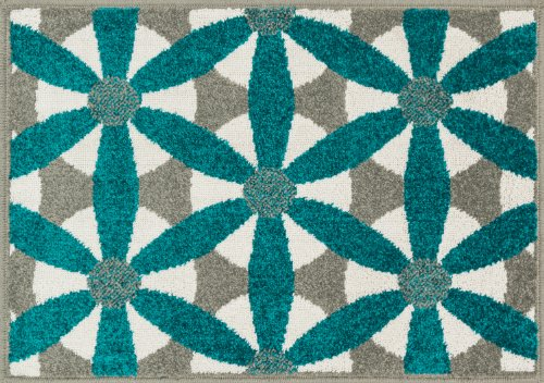 """Loloi Rugs, Terrace Collection - Grey/Teal Area Rug, 1'-8"""" x 2'-6"""""""