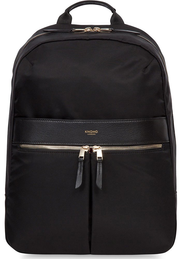 Knomo Beauchamp Laptop Backpack For Women To Fit Up To 14'' Computers, black