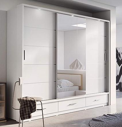 Brand New Modern Bedroom Mirror Sliding Door Wardrobe Arti 1 In Matt