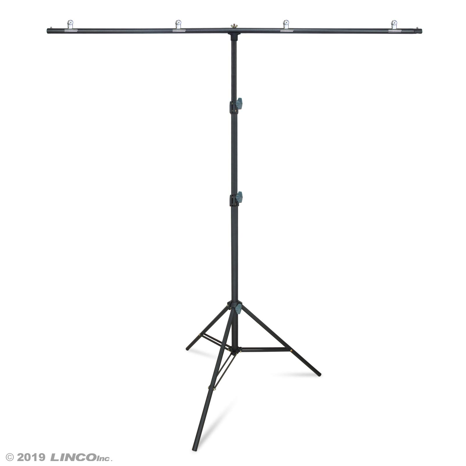 Linco Lincostore Zenith Portable T-Shape Background Backdrop Stand Kit 5x6.7ft - 5ft Wide (Fixed) and 6.7ft High (Adjustable)- Lightweight Only 4 Lbs Easy to Carry and Storage by Linco