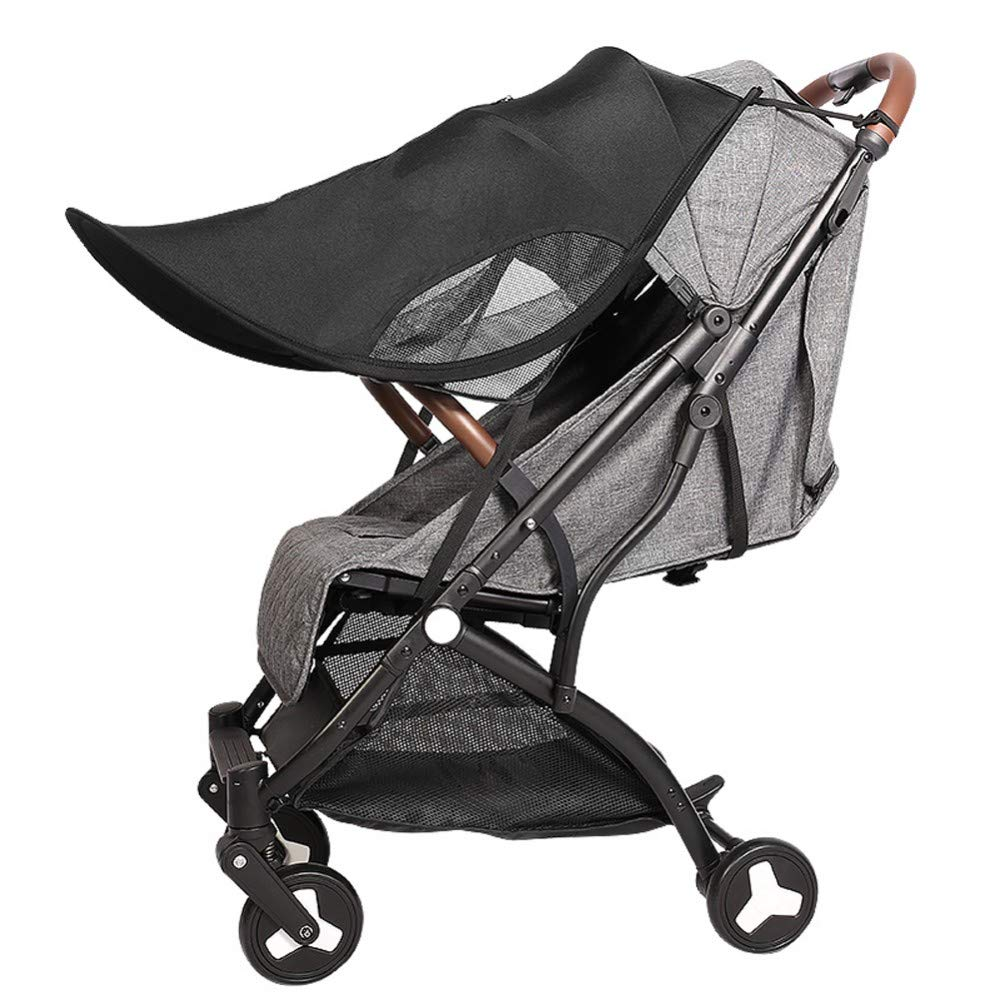 Stroller Sun Shade Extender Universal Awning UV Protection Cover, Canopy Extender, Baby Windproof Sunscreen Umbrella Pram Baby Carriages Pushchair, Detachable,B
