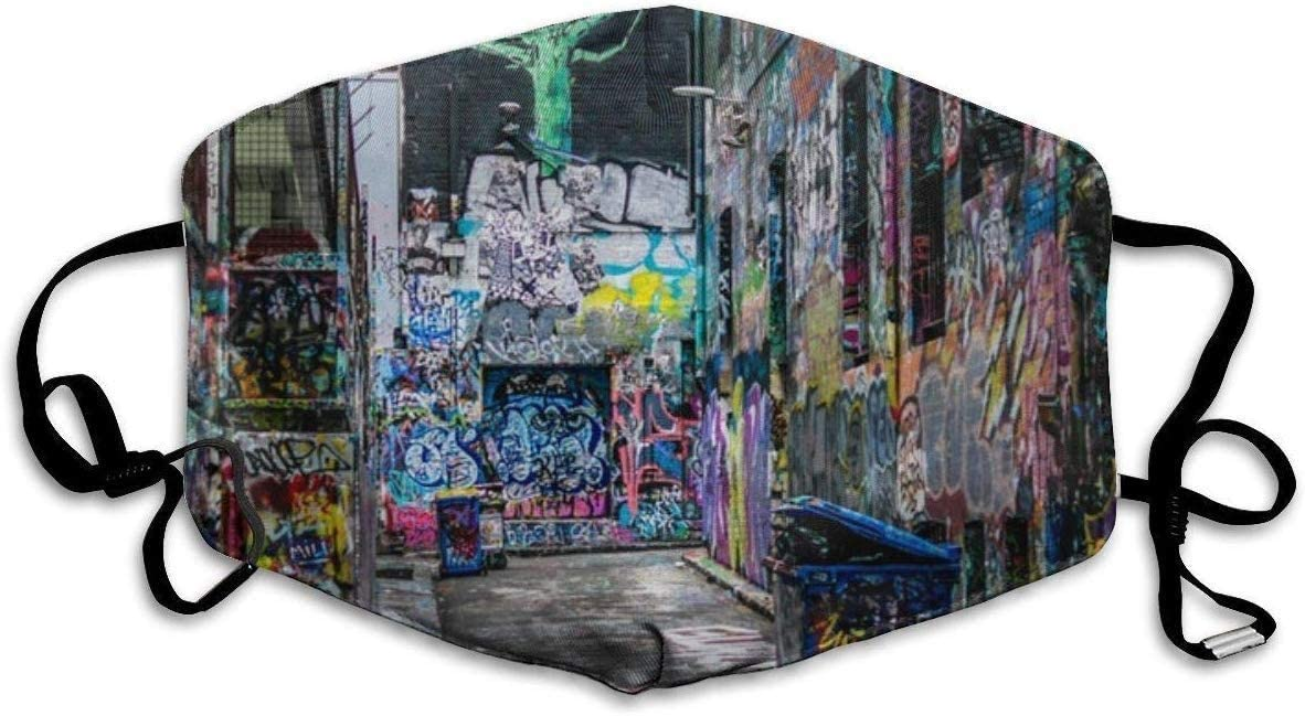 Lavable Reutilizable ugongchengyouxi Mascarilla Facial dise/ño Moderno de Graffiti y Dibujos Animados Unisex