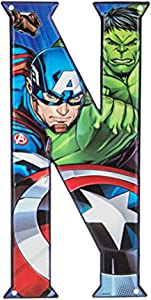 Superhero Letter Metal Wall Decor Marvel and DC Comic Letters (N)