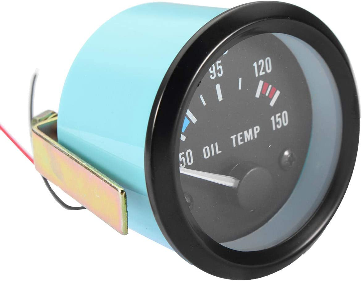 RENCALO 2inch 52mm 12V Universal 50-150 /°C Oil Temp Temperature Gauge Meter For Car Motorcycle