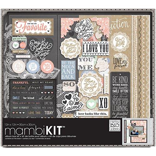 me & my BIG ideas Lacey Charm Album Box Kit, 12-Inch by 12-Inch