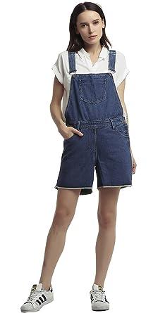Amazoncom Gihuo Womens Plus Size Denim Jumpsuit Sleeveless Romper