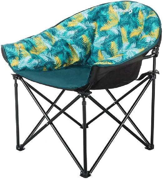 HBJP Silla Plegable al Aire Libre, Almacenamiento portátil, sillón reclinable para el jardín de recreo, Soporte de Tubo de Hierro de Doble Capa de Cara Falsa, se Puede Usar afuera: Amazon.es: Hogar