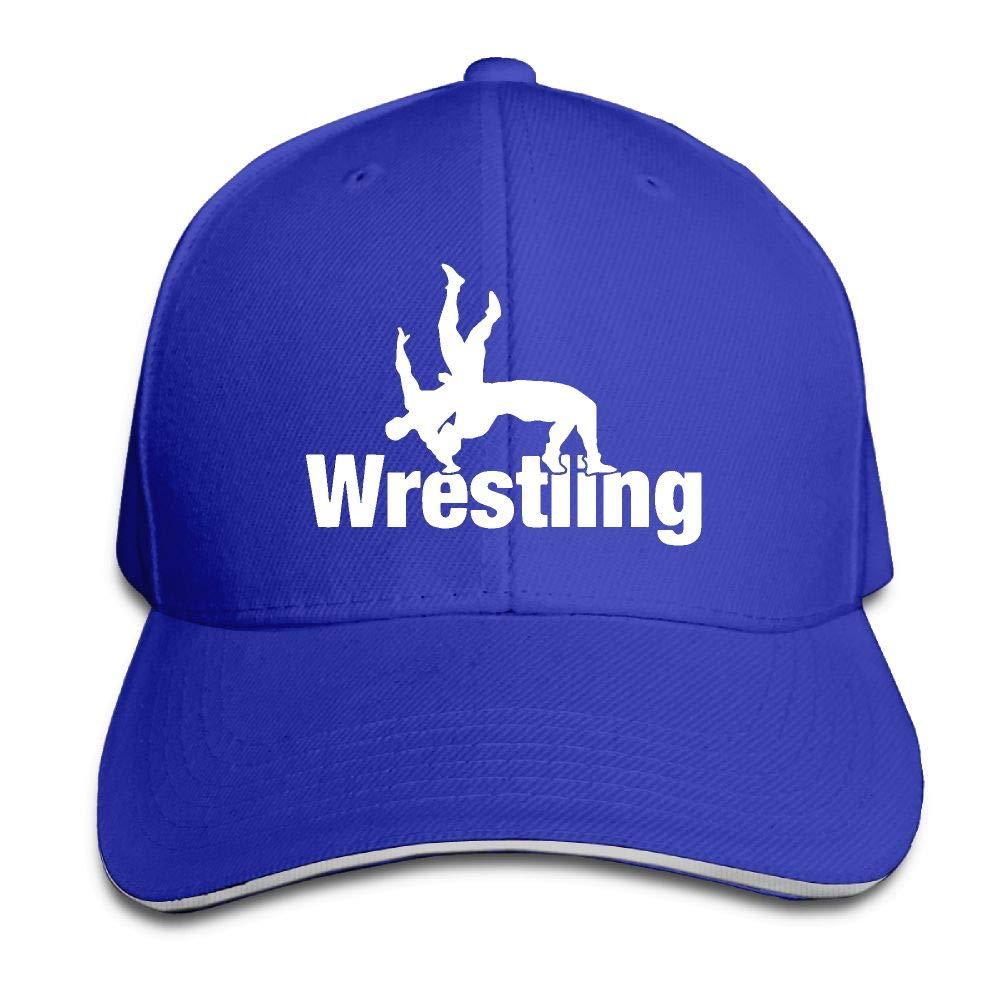 Youbah-01 Women's/Men's Wrestling Clipart Adult Adjustable Snapback Hats Trucker Cap