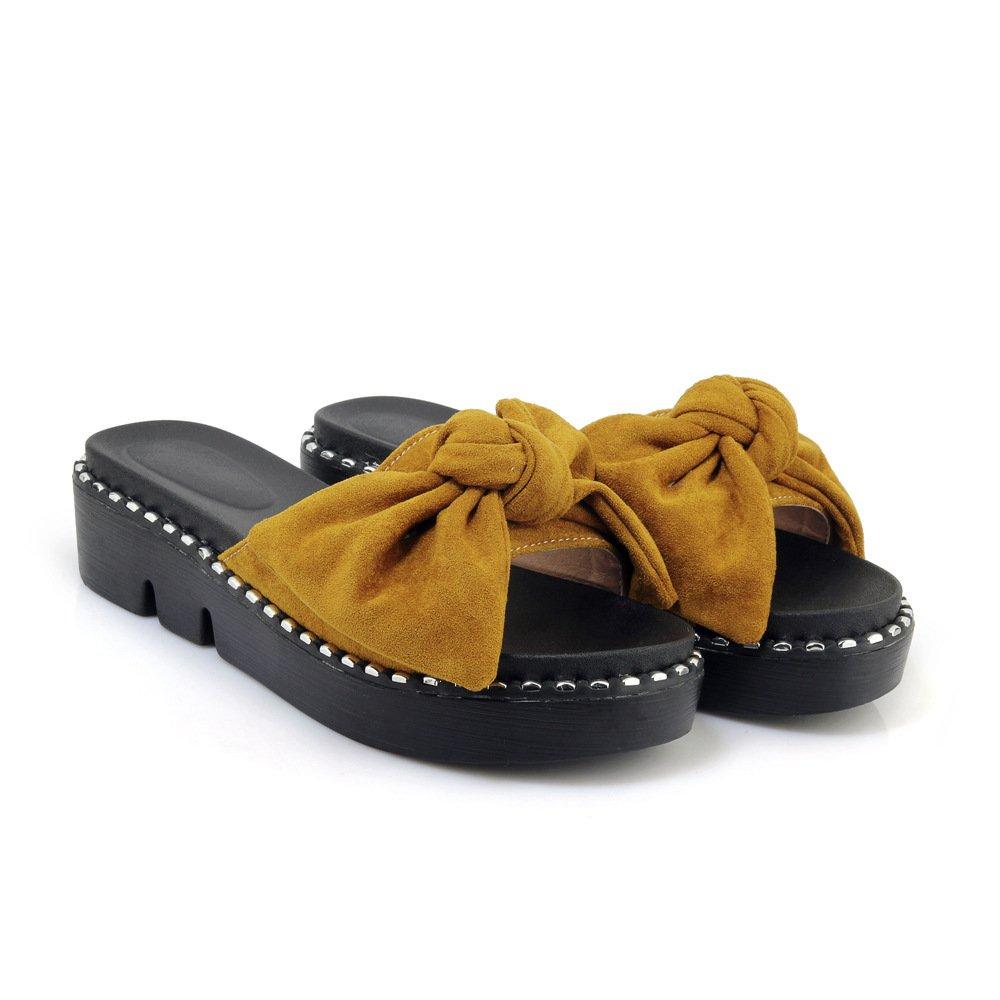 Sandales décontractées Talons, pour Femmes, Chaussures à Talons, Pantoufles pour Pantoufles Jaune 81ec58c - shopssong.space
