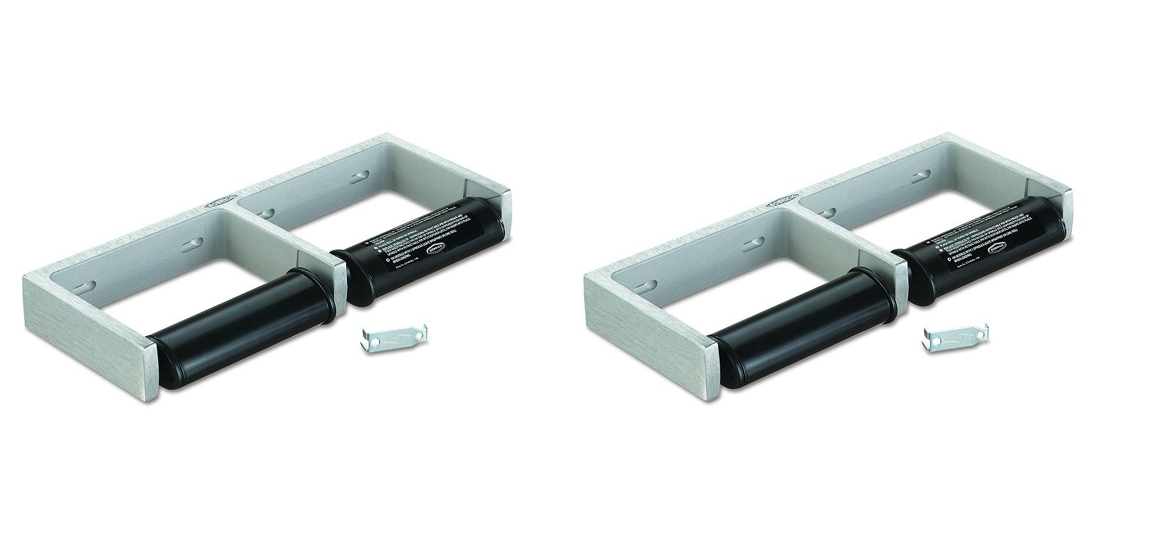 Bobrick 2740 ClassicSeries Toilet Tissue Dispenser for Two Rolls, 12 1/2'' x 4 7/8'' x 1 1/2'' (Pack of 2)