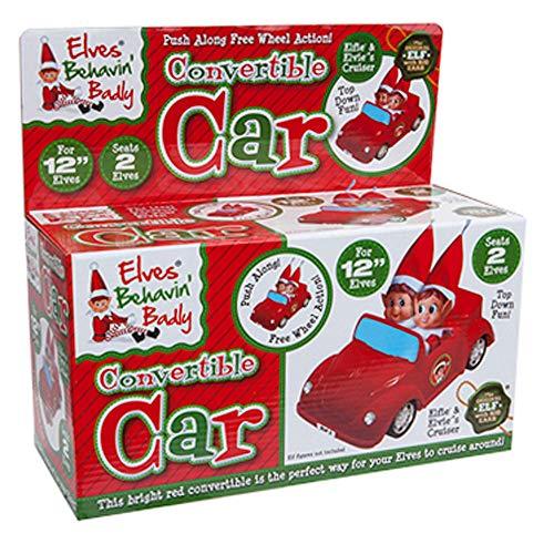 Elves Behaving Badly - 30cm Red Convertible Car - Seats 2 Elves - Elf Accessories