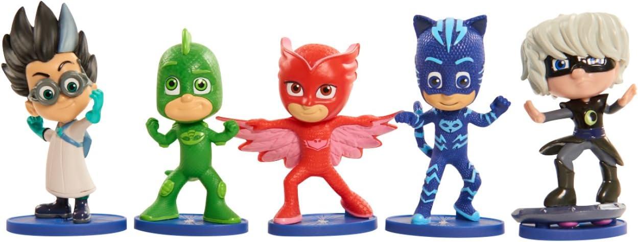 Simba 109402043 PJ Masks - Juego de 5 Figuras (Catboy, búho, Gecko, Romeo, Luna Girl, 8 cm)