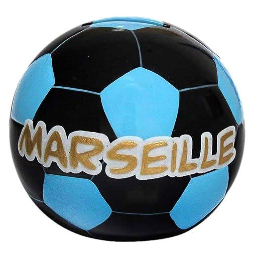 Hucha, diseño de balón de fútbol de Marsella: Amazon.es: Hogar