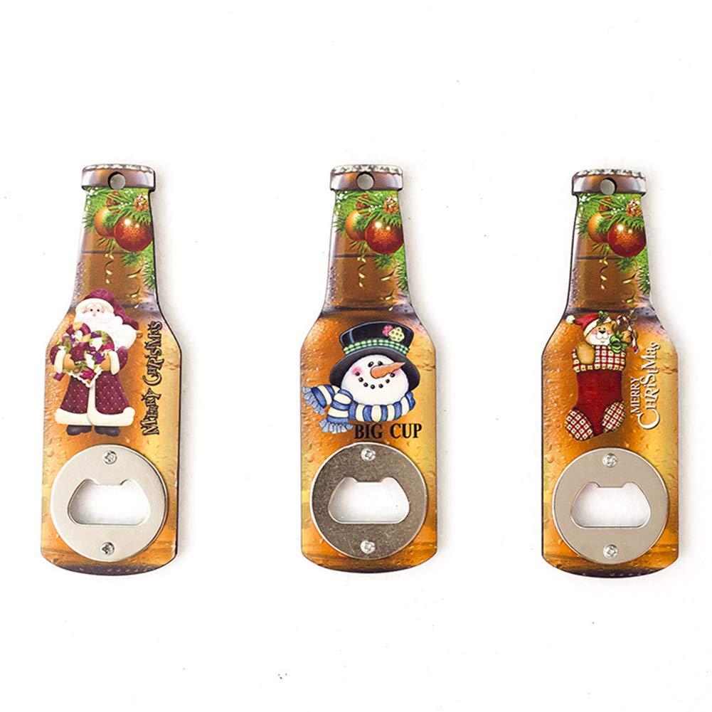 YUnnuopromi Flaschen/öffner f/ür den Weihnachtsmann mit Schneemann und B/är K/üche b/är f/ür Bar Club Party