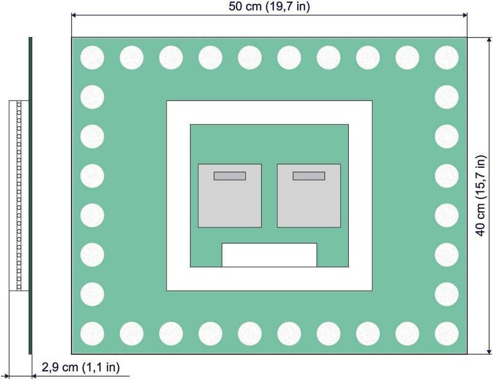 Espejo de ba/ño con iluminaci/ón LED Espejo LED Premium Espejo de luz Dimensiones del Espejo 40x40 cm Blanco c/álido 3000K Espejo con iluminaci/ón ARTTOR M1CP-04-40x40 Espejo de Pared