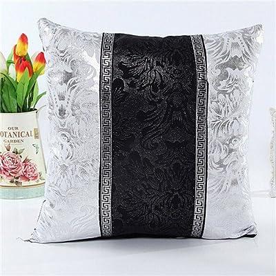 FairyTeller Vintage Black Silver Throw Pillow Case Cushion Cover Sofa Home Car Decor Almofada Funda Cojin It6601