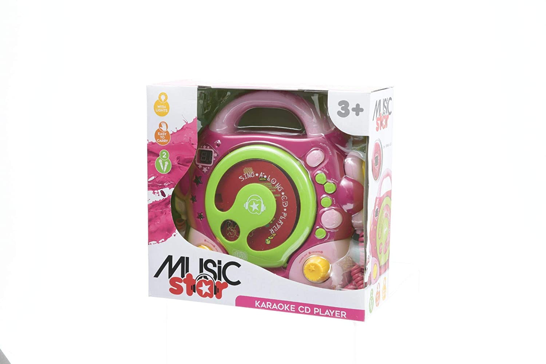 Lecteur Cd 2 Micros Rose Music Star