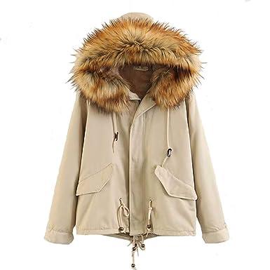 8c5e53ada478 Anaufin Damen Mädchen Winterjacke Jacke Mantel mit Kapuze  Amazon.de   Bekleidung