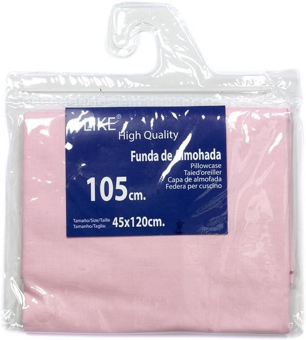I LIKE® Funda DE Almohada Rosa 100% ALGODÓN Cama 105 (45 X 120 cm)