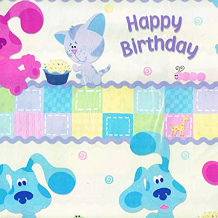 Image Unavailable Not Available For Color Blues Clues 1st Birthday Folded Gift Wrap