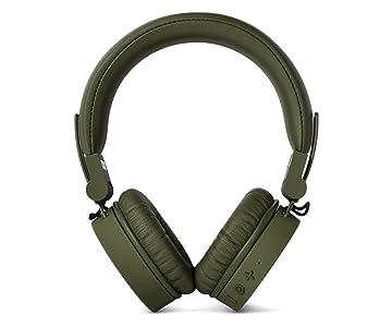 Fresh 'n Rebel Caps Wireless Headphones, Cuffie Bluetooth On Ear, Senza Fili, Padiglioni Morbidi Anti Rumore, Struttura Chiudibile, Microfono e Telecomando Integrati, Cavo di Riserva, Verde militare (Army)