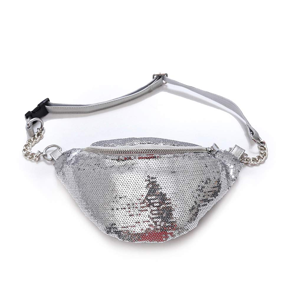 china Y 2019 New Women Sequin Fanny Pack Fashion Phone Pouch Waist Chest Shoulder Bag Glitter Bum Belts Bags Packs