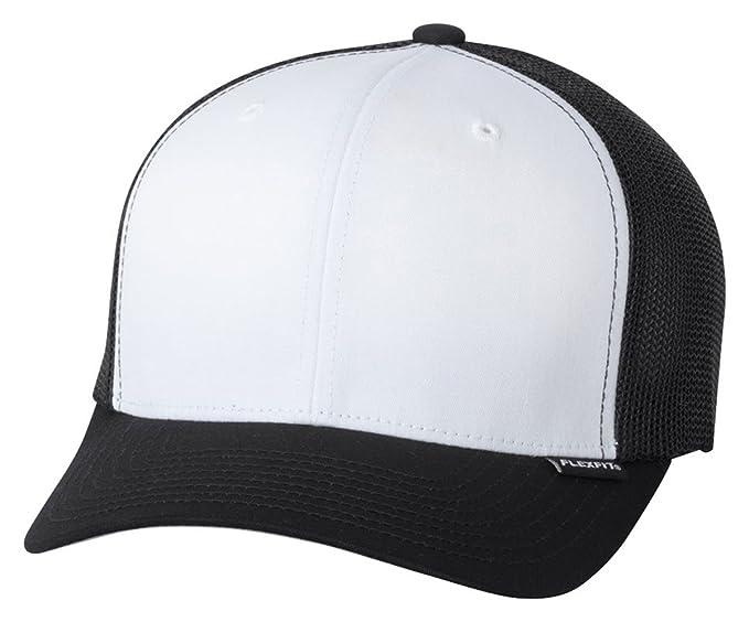7260efdcd71 Amazon.com  Flexfit - Trucker Cap - 6511 - One Size - Black  White ...