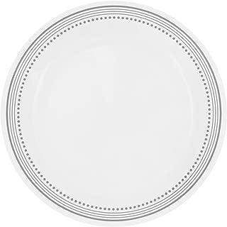 """product image for Corelle Livingware Mystic Gray 10.25"""" Dinner Plate,White (Set of 8)"""