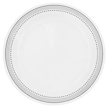 Corelle Livingware Mystic Gray 10.25  Dinner Plate,White (Set of 8)
