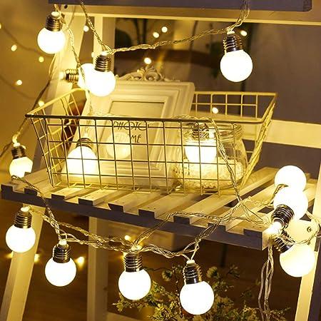 YHHK Luces De Cadena con Bombillas, Colgantes 0.08W Blanco Cálido Vintage G20 Bombillas, para Bistro Pergola Deckyard Tents Market Cafe Gazebo Porch Letters Party Decor: Amazon.es: Hogar