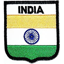 India Country Flag Patch Sew Iron on Logo Embroidered Patch Iron On Sew On National Emblem Patch Jacket T Shirt Patch Sew Iron on Embroidered Symbol Badge Cloth Sign Costume