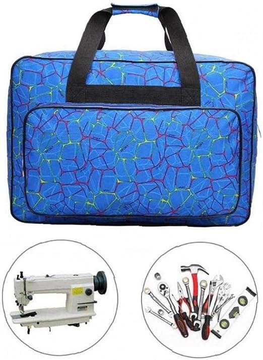 Multifunktions-N/ähwerkzeug Handtaschen N/ähmaschinen-Tragetaschen Handtasche Nylon blau,46x31x24cm N/ähmaschinentasche N/äh-Organizer Reisetasche gro/ße Kapazit/ät N/ähmaschinen-Aufbewahrungstaschen