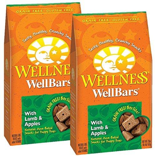 Wellness Natural WellBars Crunchy Dog Treats (Lamb & Apples, 20-Ounce Bag / 2 Pack)
