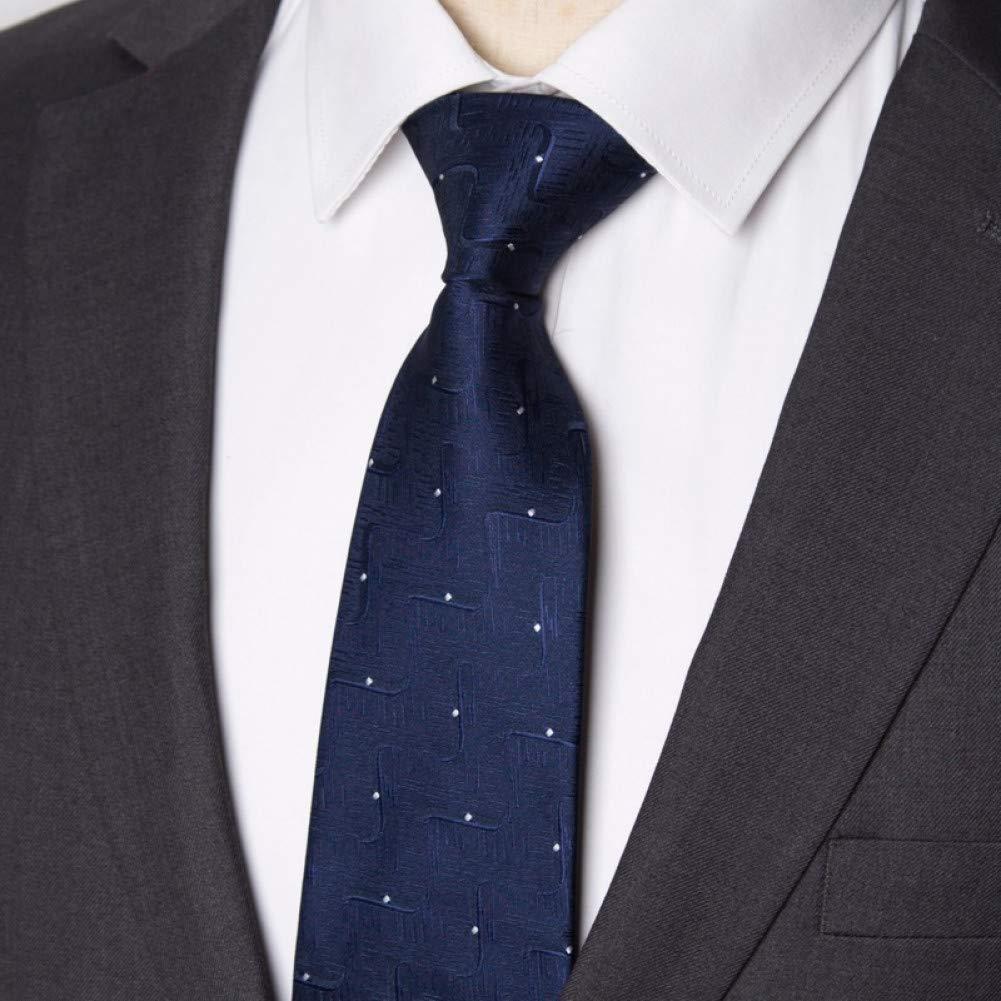 WOXHY Hombres Corbata de Negocios 8 cm Corbata de Rayas para ...