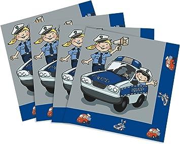 20 Servilletas * * de policía para Fiesta temática y niños ...