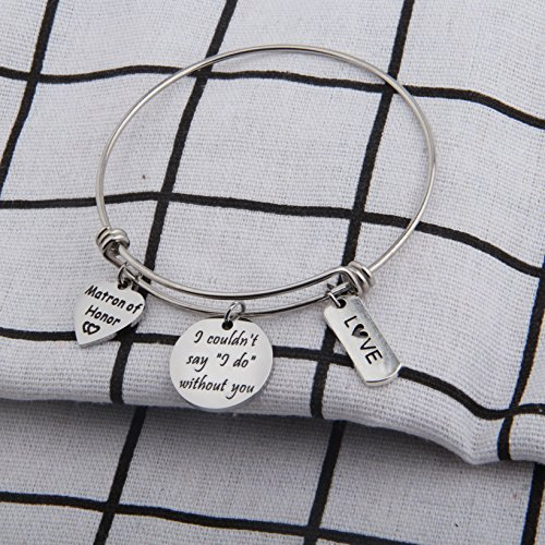 Zuo Bao Bridesmaid Gift I Couldn't Say I Do Without You Bracelet Matron of Honor Jewelry Maid of Honor Proposal Gift (Silver) by Zuo Bao (Image #5)