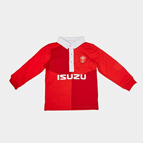 Official Wales WRU Rugby Baby Toddler Long Sleeved Rugby Shirt
