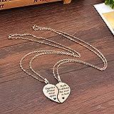 MJartoria BFF Necklace for 2-Split Valentine Heart