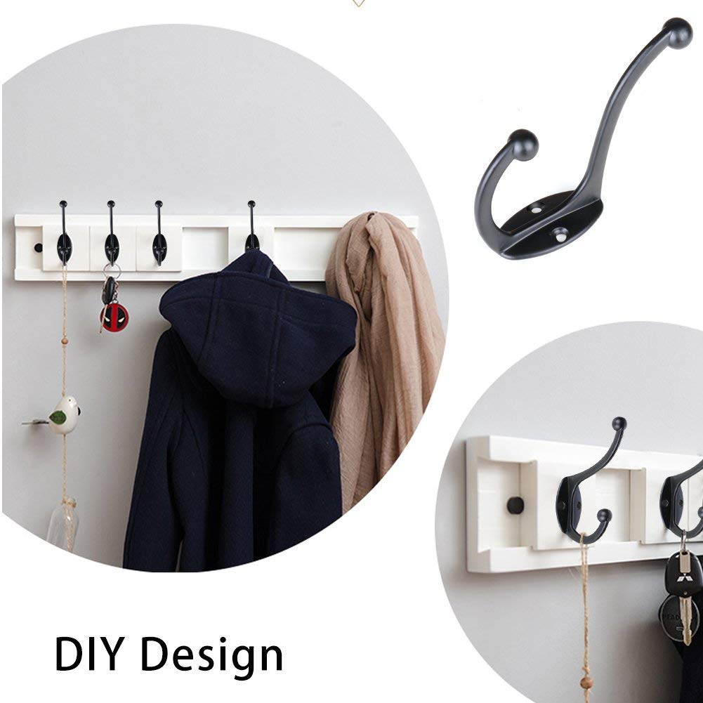 8 Pack Heavy Duty Coat and Hat Hook Robe Hook Cup Hooks Retro Hooks for Coat //Backpack //Bag //Towel //Key //Cap With 18 Screws Coat Hooks
