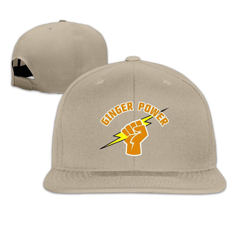 Ginger Power Fist Adjustable Cap Flat Brim Baseball Caps