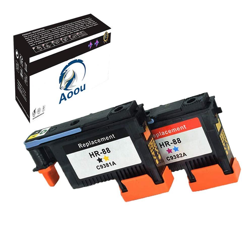 Aoou 2 Pack HP88 HP 88XL Printhead C9381A C9382A for HP Officejet Pro K5400 L7480 L7500 L7550 L7580 L7590 L7650 L7680 L7710 L7750 L7780 L7790 Printer (2pack)
